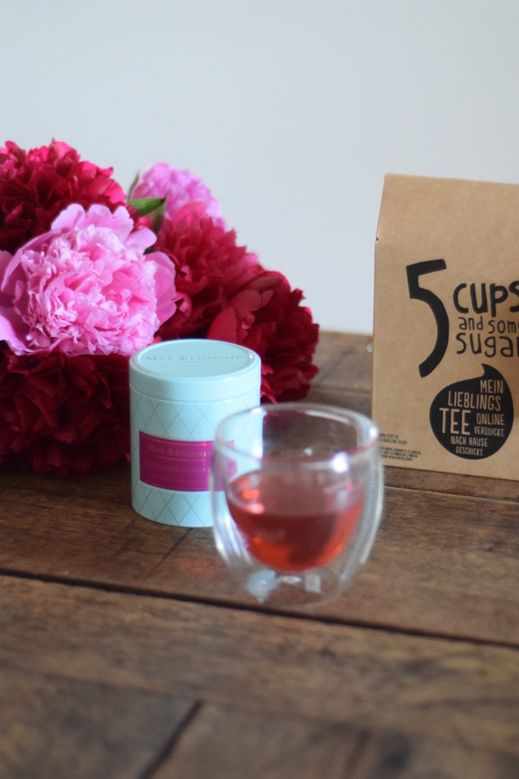 trendsetter, tee, 5 cups, 5 cups and some sugar, cookbook, peonies, modeblogger, münchen, munich, hofsaale blogger, blogger, germany, foodblogger, foodlicious